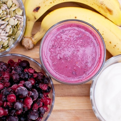 Add fiber to your morning smoothie to help keep you regular.