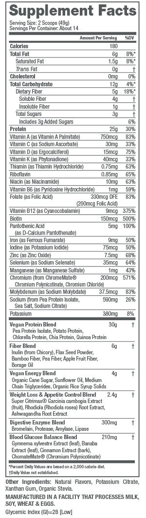 Health & Beauty Naturade Veganslim High Protein Weight Loss Shake Vanilla