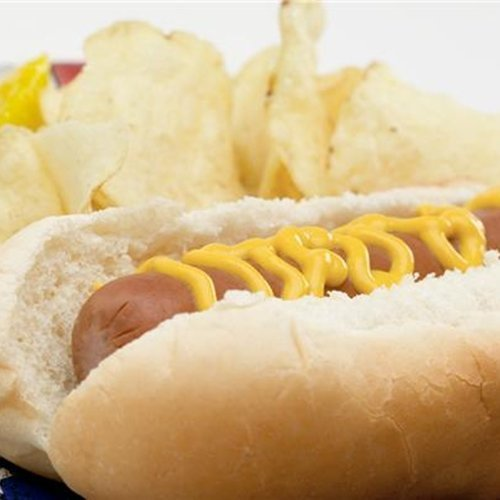 A veggie hot dog essentially has the same nutritional value of a regular hot dog.