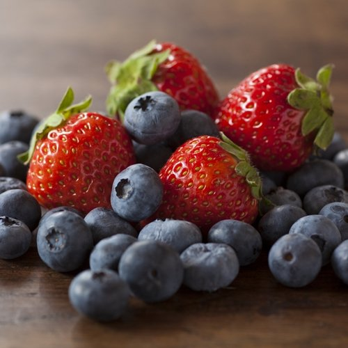 Blueberries and strawberries are some of the healthiest fruits as they contain excellent antioxidants and various vitamins.