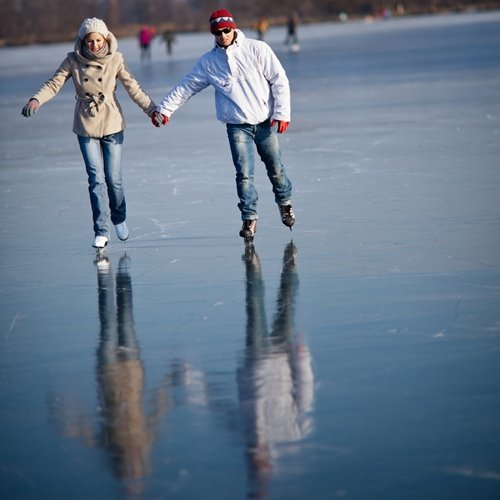 Ice skating is a great winter workout.
